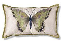 scatter cushions ideas butterflies