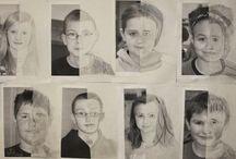 portrett tegning