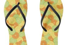 Sandals - Flip Flops - Thongs / A collection of sandals aka flip flops aka thongs with beautiful pattern design.