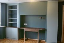 Oak Fjord with Leather Coated Desktop and Drawer