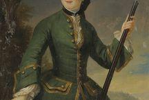 18th century hunting riding dress