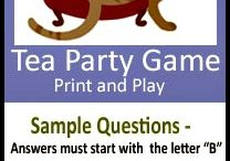 Tea Party Games / Tea Games are a fun way to liven up the party. They can be varied to suit the type of tea parties you are hosting - from giggly games for girls to sophisticated and tasteful tea trivia!