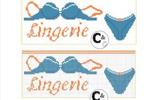 Point de croix Lingerie