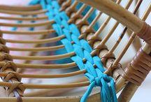 Rattan chair + anyam kain