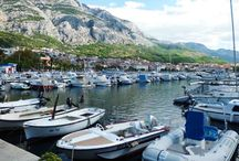 Makarska / Makarska in Dalmatien am Fuße des Biokovo Gebirges