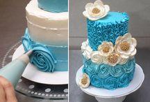 decoración tortas con rosas de crema