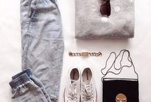 Flat lay styling / The best flat lay outfits and fashion inspiration