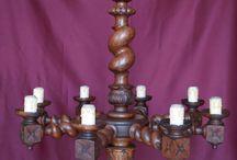 Wooden lamps Barley Twist