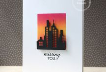 Distress ink cards