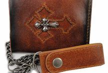 Wallets and Leather Chain Wallets / Chain Wallets - Biker Wallets and Leather Chain Wallets and Bill Fold Store. Our chain wallets are all the rage! Not only do our bikers love to wear their chain wallets, everyone else is wearing them as well. We have trucker chain wallets, biker chain wallets, and super hip chain wallets. Chain wallets not only protect you from losing your wallet due to theft or perhaps the wallet just falling out of your pocket, but they are now a fashion statement.