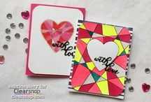 Valentines Day / Valentines day crafts, homemade projects, cards and more! Made with ink ,stamps and other diy techniques