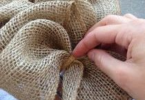 burlap with wire