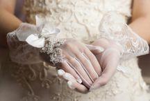 Gants de mariée très luxe / Gants de mariée très luxe