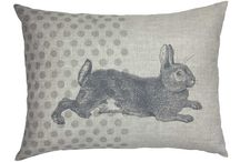 Easter Gifts / Not everyone wants to give or receive chocolate at Easter.  How about being different this year and buying one of these lovely bags or prints. #flask #bags #prints #cushions #rabbit