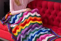 rippling crochet throw