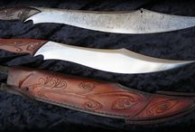 Knives and Daggers by FableBlades / Knives Daggers Blades elvish viking medieval history museum