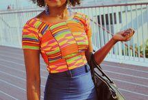 #Kentenewstyles#africanprints#denimskirts