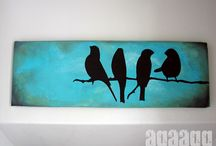 art paintings and wall hangings / by Liz Christenberry