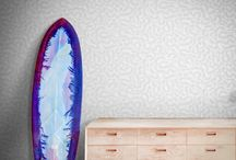 FEATHR.COM - Funky Design Wallpapers / Be as bold with your walls as you are with your wardrobe.  Our range of Funky Patterned designer wallpaper will brighten the home.