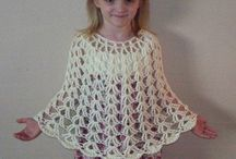 Crochet children's ponchos