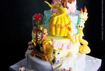 Beauty and beast cakes