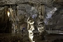 Karst Caves in Slovenia / Karst region is known for over 4000 caves, only a few are open to the visitors. The most known is Postojna cave while Škocjan caves are listed on UNESCO heritage list;