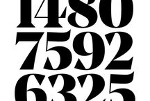 Numbers / A Pinterest board devoted to hand-lettered or typographic numbers
