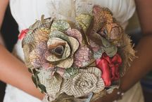 Alternative Wedding Bouquets / Unusual and alternative wedding bouquets and buttonholes  including bouquets using buttons, brooches and feathers