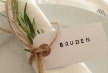 Bröllop - Bordsdeko