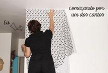 tecido em parede
