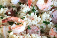 One Pot sausage and shrimp with rice