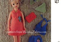 dolls clothes / knitting and crochet patterns for dolls clothes, including teen dolls, baby dolls, vintage dolls clothes patterns