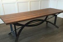Tavolo legno - metallo - vetro