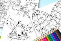 Coloring pages &tutorials