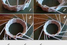 Плетение из газетной лозы