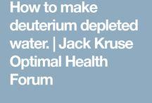 Health / Circadian rhythm, deuterium depletion, natural light and earthing