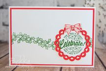 Christmas Cards / Ideas for handmade Christmas Cards featuring products from Stampin' Up! UK