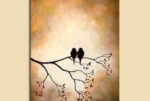 Tableau petits oiseaux