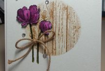 Kort med blomster