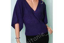 Eleganckie modne gładkie sweterki z krótkim rękawem