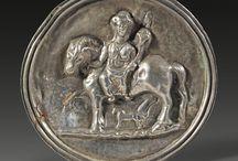 Roman art Silver artifacts / Roman silver jewelry - Roman silver necklace - Roman silver vase - Romal silver plate