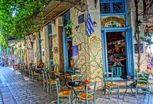 SIDEWALK CAFE / Παραδοσιακά Καφενεία της Πόλης....... Tranditional Sidewalk cafe