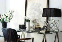 Black + White Interiors / Monochromatic black and white interior design, decor