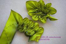 цветы лепестки из ткани