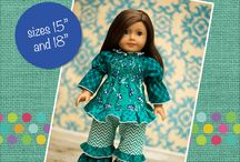 """15"""" Doll PDF Sewing Patterns / These patterns contain directions for both 15"""" and 18"""" dolls! Great for American Girl and Bitty Baby dolls. Instant download patterns available at www.createkidscouture.com"""
