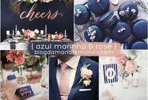 azul marinho e rose