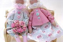 Tilda + muut saman tyyliset / Ommeltuja nukkeja ja eläimiä