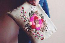 İşlemeli el çantaları