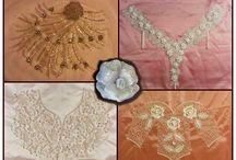 Paola Patrizia Leccia / ricami a mano, utilizzando vari materiali come :perle, corallini, filati ecc.