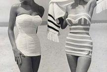 retro bathing suit.
